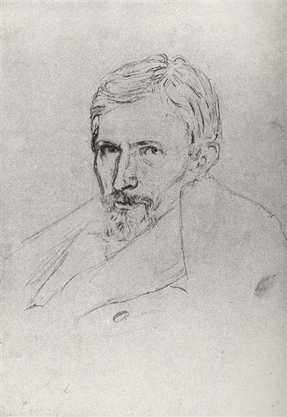 Portrait of Viktor Vasnetsov - Arkhip Kuindzhi