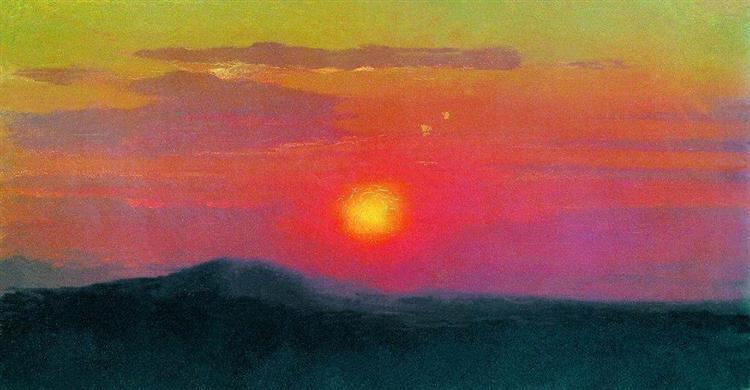 Red sunset, c.1895 - Arkhip Kuindzhi