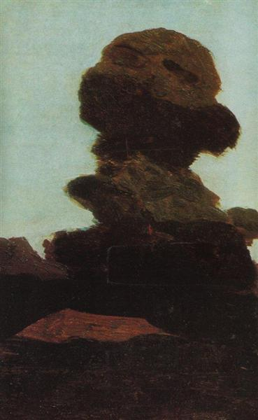 Tree against the evening sky, c.1895 - Arkhip Kuindzhi