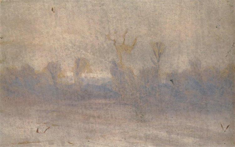 Winter. Fog, c.1895 - Arkhip Kuindzhi