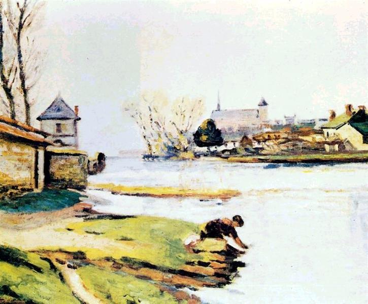 Le réservoir à Poitiers, 1910 - Armand Guillaumin
