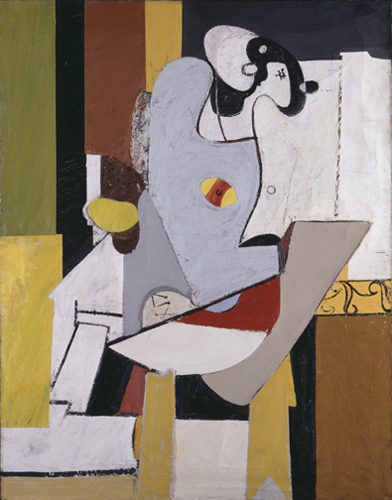 Blue Figure in a Chair, c.1931 - Arshile Gorky