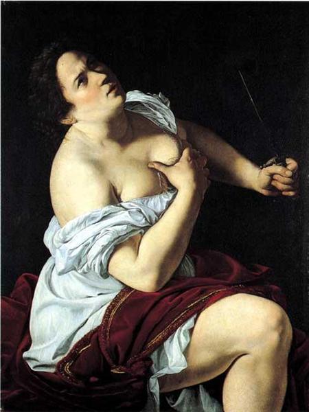 Lucretia, 1620 - Артемизия Джентилески