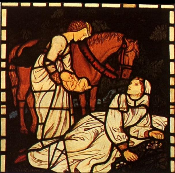 The Birth of Tristan, from 'The Story of Tristan and Isolde' - Артур Г'юз
