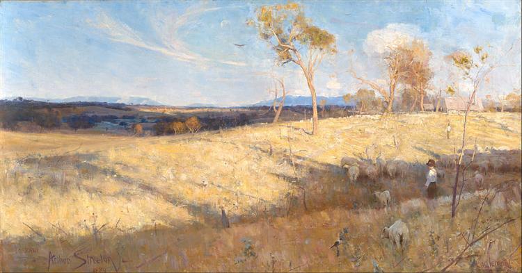 Golden Summer, Eaglemont, 1889 - Arthur Streeton