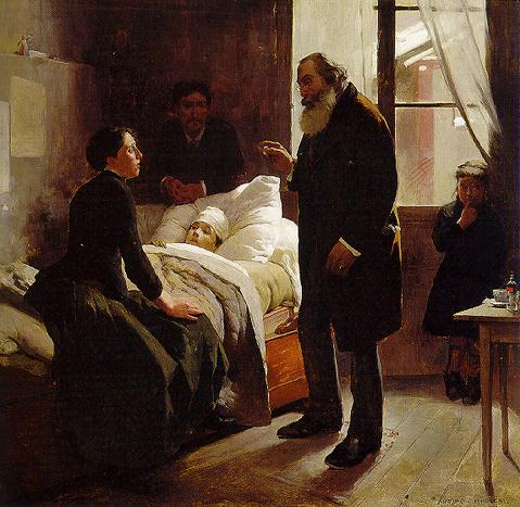 The Sick Child, 1886 - Arturo Michelena