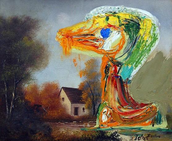 Le canard inquiétant, 1959 - Asger Jorn