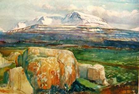 Scene from Fljótsdalshérað in East Iceland, 1951 - Asgrimur Jonsson