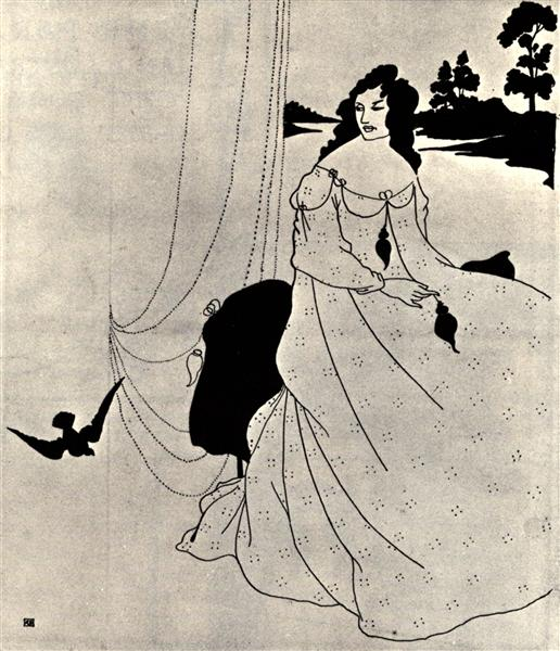 A Book of Fifty Drawings, front cover - Aubrey Beardsley