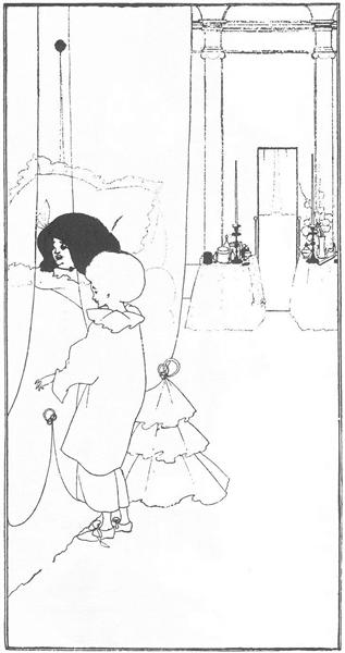 A Child at its Mother's Bed, 1895 - Aubrey Beardsley