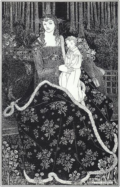 A large Christmas Card, 1895 - Aubrey Beardsley