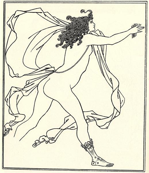 Apollo pursuing Daphne, 1896 - Aubrey Beardsley