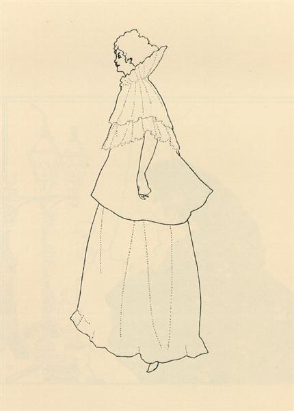 Madame Rejane, 1894 - Aubrey Beardsley