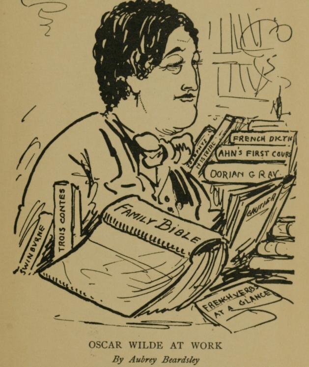 Oscar Wilde at Work, 1893 - Aubrey Beardsley
