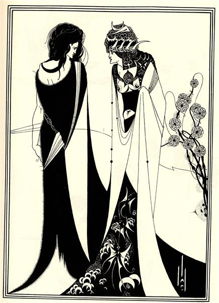 Salome with her mother, 1894 - Aubrey Beardsley