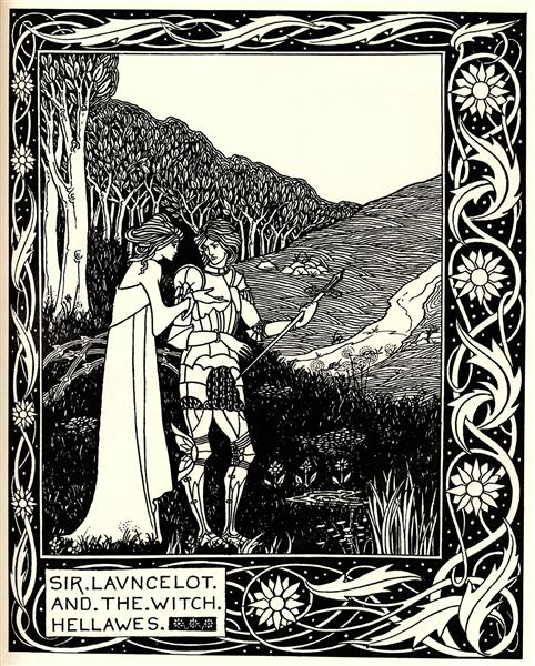 Sir Launcelot and the Witch Hellawes, 1894 - Aubrey Beardsley