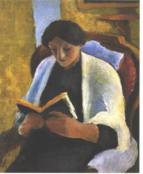 Reading woman - August Macke