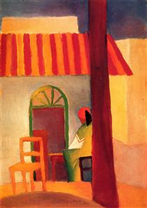 Turkish Cafe (I) - August Macke