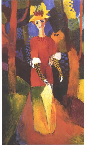 Woman in park, 1914 - August Macke