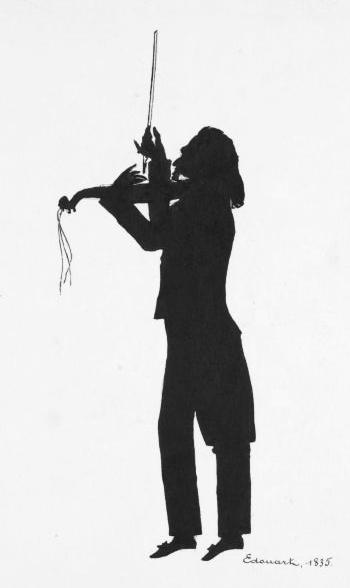 Niccolò Paganini - Auguste Edouart