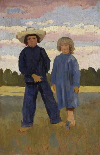 David and Caspar, 1912 - Augustus John