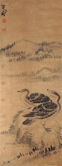 Two Wild Geese - Bada Shanren