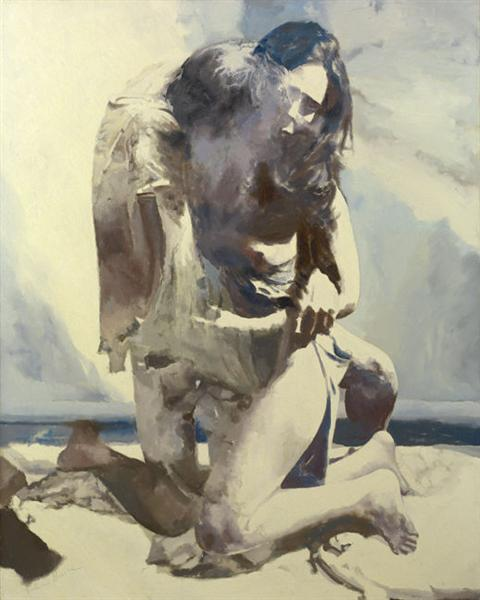 Woman and Man by the Sea, 1974 - Balcomb Greene