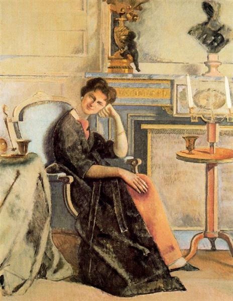 Portrait of Baroness Alain de Rothschild, 1958 - Balthus