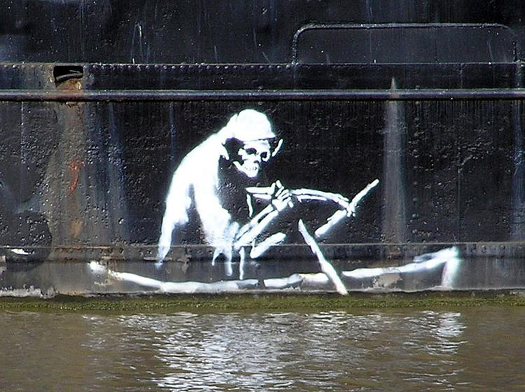 Keep It Spotless (Defaced Hirst), 2007 - Banksy - WikiArt org