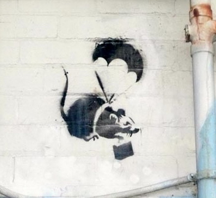 Parachuting Rat - Banksy