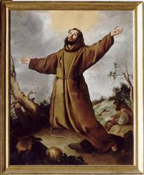 Saint Francis of Assisi Receiving the Stigmata - Bartolomé Esteban Murillo