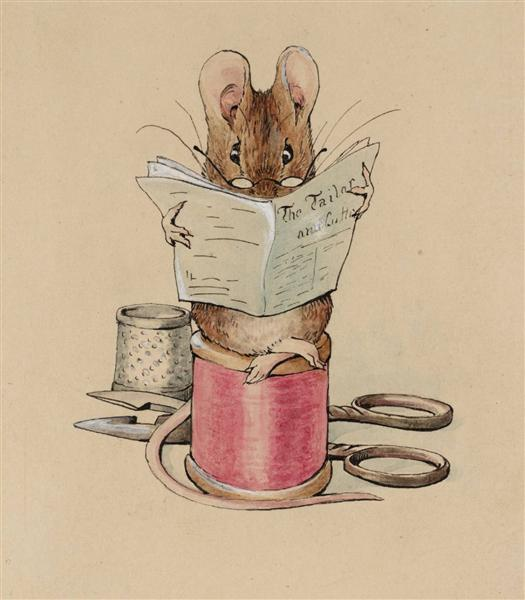 Frontispiece. The Tailor Mouse, 1902 - Beatrix Potter