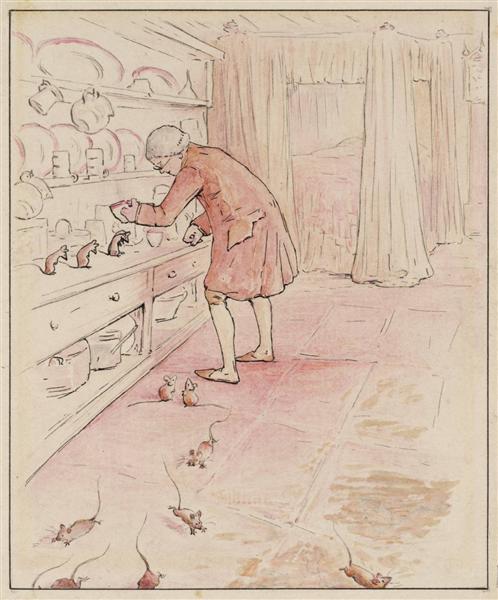 The Mice Escape, 1902 - Beatrix Potter