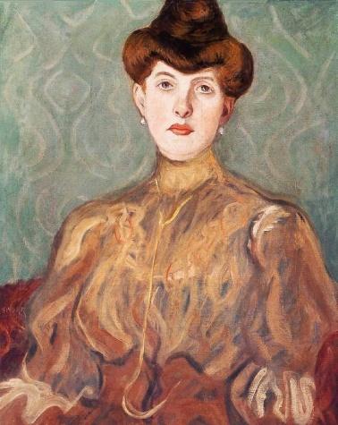 Portrait of the Artist's Wife, 1907 - Bela Kadar