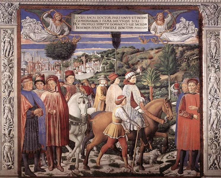 St. Augustine Departing for Milan, 1464 - 1465 - Benozzo Gozzoli