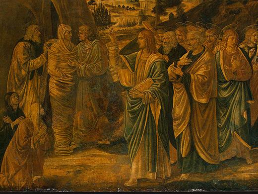 The Raising of Lazarus (detail), c.1497 - Benozzo Gozzoli