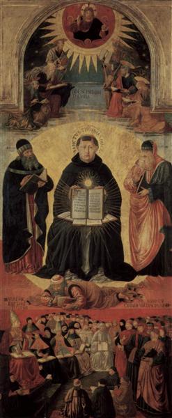 The Triumph of St. Thomas Aquinas, 1468 - 1484 - Benozzo Gozzoli