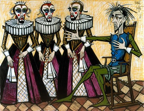 Don Quichotte: Les duegnes, 1988 - Bernard Buffet