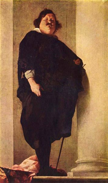 Portrait of a fat gentleman - Bernardo Strozzi