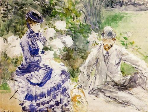 By the Water - Berthe Morisot