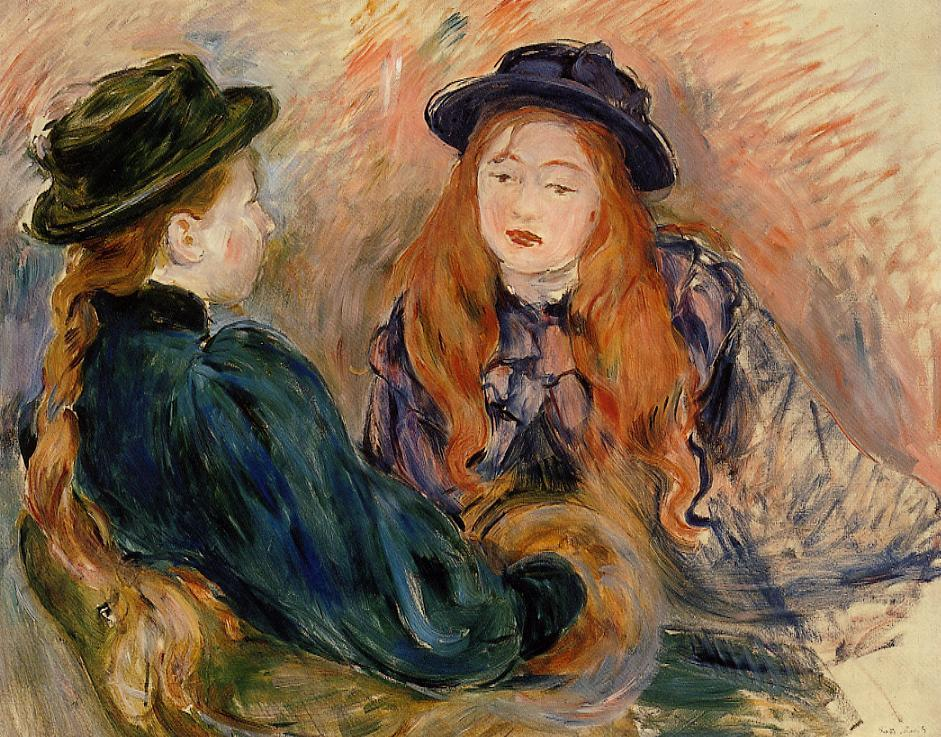 Conversation, 1891 - Berthe Morisot - WikiArt.org