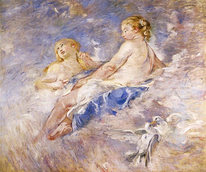 Venus at the Forge of Vulcan (after Boucher), 1883 - 1884 - Berthe Morisot