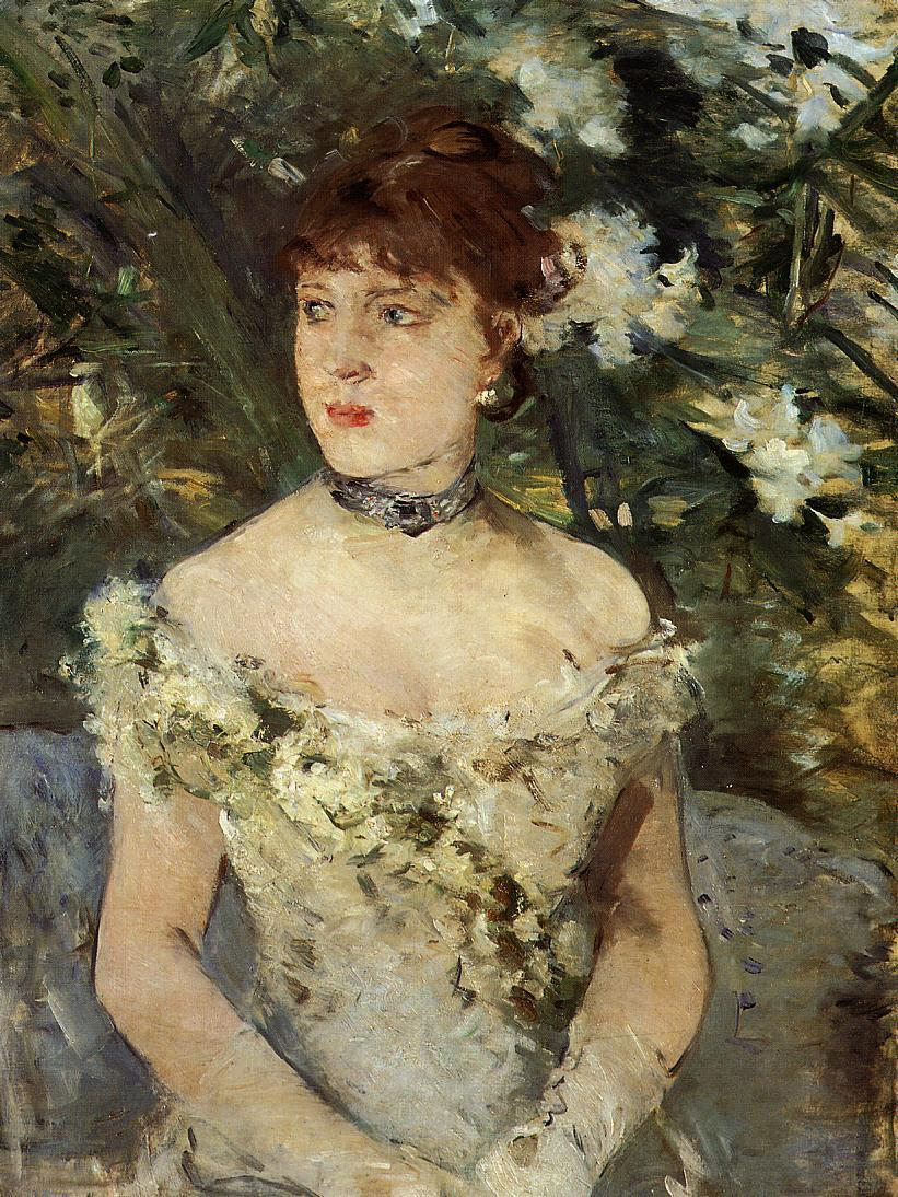 Young girl in a ball gown, 1879 - Berthe Morisot - WikiArt.org