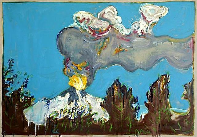 Erupting volcano, 2011 - Billy Childish