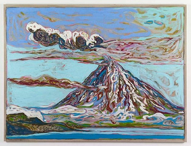 Erupting Volcano (Sea View), 2011 - Billy Childish