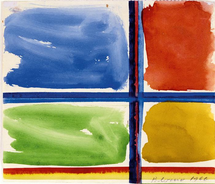 Fensterkreuz II, 1966 - Blinky Palermo