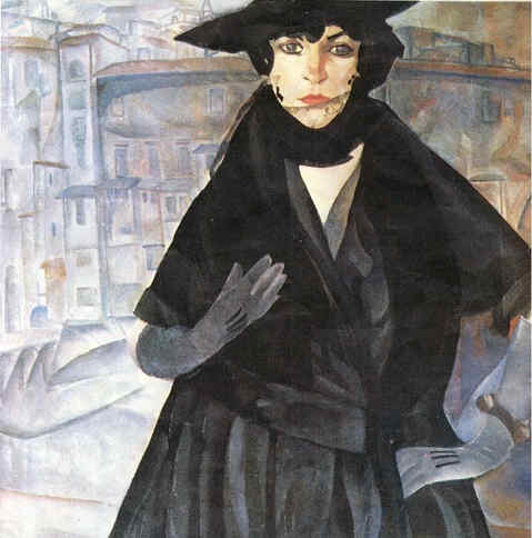 A Lady in Black, 1917 - Boris Grigoriev