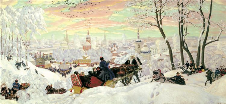 Arriving for Shrovetide, 1916 - Boris Kustodiev
