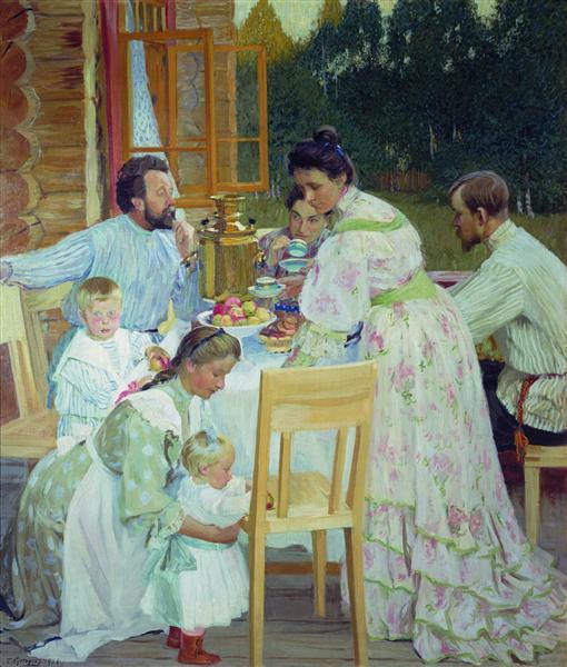 On the Terrace, 1906 - Boris Kustodiev