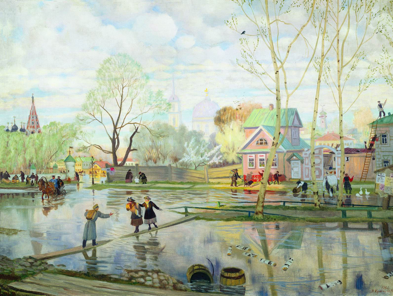 Весна - Борис Кустодиев - WikiArt.org